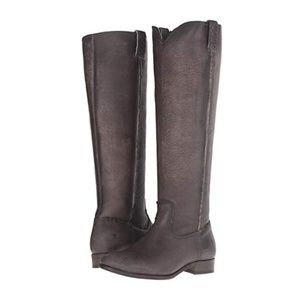 Frye Cara Tall Smoke Boots 6
